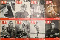 Lot of 16 1946 LIFE Mag - Dorothy McGuire Ice Skaters Donna Reed Vinson Play