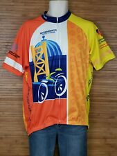 Voler Mens 2XL Cycling Jersey Sacramento Century Challenge Graphic Top Shirt EUC