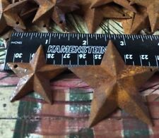 "20 TOTAL Rusty Barn Stars (10) 1.5"" & (10) 2.25"" Country Rust Rustic Prim *"