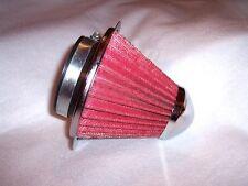 "Gray RED   3 inch cone reuseable breather air filter custom car truck ATV UTV 3"""