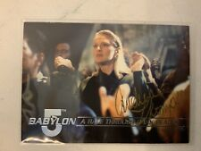 Babylon 5 Andrea Thompson Hand Signed 1995 Fleer Trading Card #64 Autographed