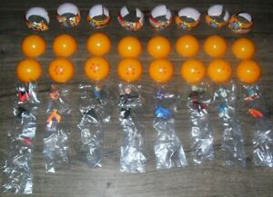 DRAGON BALL SUPER SERIES 1 KEYCHAIN BUILDABLE FIGURES COMPLETE SET OF 8 & RARE