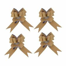 Kraftz - 30mm Gold Metallic Glitter Butterfly Pull Bows for Party Wedding Car