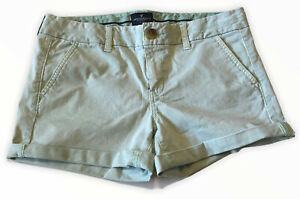 American Eagle Women's Size 10 Stretch Midi Shorts Khaki