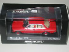 Mercedes W123 230E Saloon Rojo 1976 1/43 Minichamps Raro 430032206