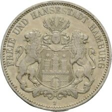 Künker: Hamburg, 3 Mark 1909 J