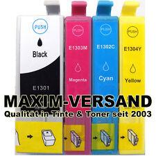 XL Farb-Patronen Set für Epson T1301 T1302 T1303 T1304 T1306 KEIN Original XXL