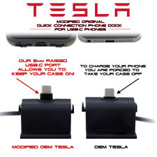 Tesla Quick Connection Phone Dock for USB-C Devices Customized for use w/ Cases