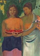 AFTER PAUL GAUGUIN DEUX TAHITIENNES Acrylic Painting c1950