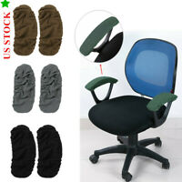 1Pairs Office Chair Armrest Cover Elastic Slipcover Removable Protector Warm Pad