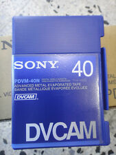 SONY DVCAM PDVM 40N LOTE 10 VIDEO CASSETE TAPE NUEVO SIN USAR VIRGEN