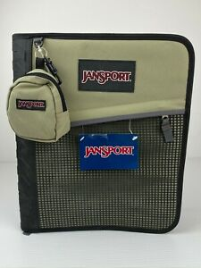 Jansport Trapper Keeper / 3-Ring Binder / Black & Tan / NOS