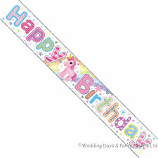 Simon Elvin Foil Happy Birthday Unicorn Banner Kids Childs Party Decoration