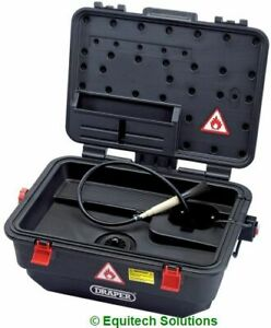 Draper 22494 Mobile Portable Parts Washer Cleaning Tank with Brush Degreaser
