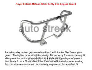 Genuine Royal Enfield Meteor 350 Silver Airfly Evo Engine Guard