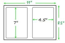 200 Self Adhesive Shipping Labels Round Corners Half Sheet 7.0 X 4.5 USPS UPS