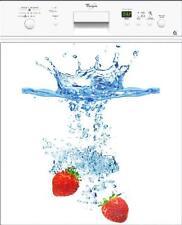 Sticker lave vaisselle électroménager déco cuisine Fraise 60x60cm réf 016