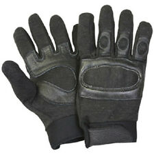 NEW - Tactical Hard Knuckle Assault SWAT Gloves BLACK - L
