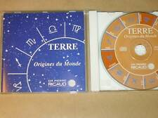 RARE CD / TERRE ORIGINES DU MONDE / DR PIERRE RICAUD / TRES BON ETAT