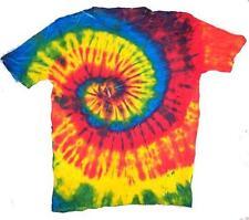 PETITE RAINBOW TYE DYED TEE SHIRT unisex SIZE LG hippie tie dye NEW SWIRL PET02
