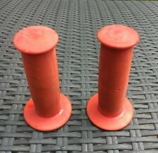 """ODI Toadstool Old School Vintage Retro BMX Bike Grips Red 7/8"""" 1985 Used Usable"""
