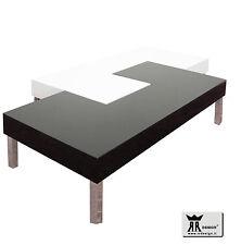 Tavolino RR design moderno salotto soggiorno legno laccato lucido bianco e nero!