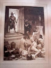 """RARE PHOTO ORIGINALE signée PAR PAUL JAMIN """" Le Brenn et sa part de butin """" 1893"""