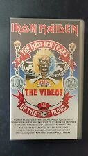 IRON MAIDEN - THE FIRST TEN YEARS - VHS - EMI 1990 - PAL