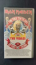 IRON MAIDEN - THE FIRST TEN YEARS - VHS - EMI 1990 - PAL - BUONE CONDIZIONI