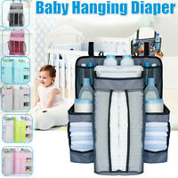 7 Colors Baby Hanging Diaper Caddy Organizer Diaper Stacker for Changing Table