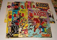 L'UOMO RAGNO GIGANTE blocco di 9 fumetti  da  29 a 74  in ottime condizioni
