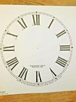 "5"" New Haven Clock Paper Dial, Roman Numeral             (Lot 181)"