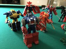 MARVEL TRANSFORMERS CROSSOVERS LOT 9 Figures Captain America, Spider-Man, Iron M
