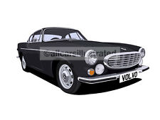 VOLVO P1800 CAR ART PRINT (SIZE A3). PERSONALISE IT!