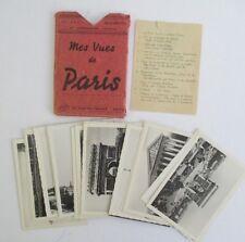 Mes Vues de PARIS 20 Vintage Photo Cards in Folder