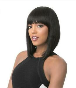 """12"""" Straight Wig With Bangs Synthetic Hair Wigs"""