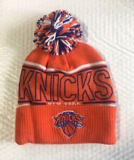 NY New York Knicks Knit Beanie Toque Winter Hat Adidas Cuffed Pom NBA Orange