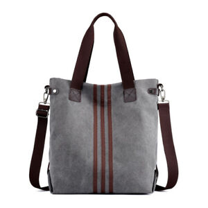 Damen Tasche Canvas Handtasche Schultertasche Große Kapazität Shopper Umhänge