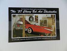 Danbury Mint 1957 CHEVY BEL AIR SHADOWBOX Brochure Pamphlet Mailer