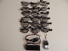 Wireless Remote 18 Color Changing Led 18pc Street Twin Motorcycle Led Light Kit