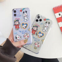 Case for iPhone 11 Pro Max XR XS Snoopy Soft Phone Cover TPU Silicone Cover