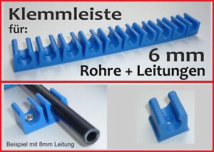 KLEMMHALTER Halterung für 6 mm Kunststoffleitung Benzinleitung Bremsleitung PKW