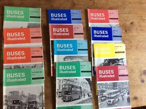 Vintage BUSES ILLUSTRATED 1966 Complete Year 12 issues