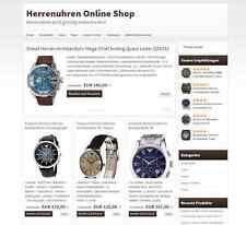 ★ ONLINE SHOP HERRENUHR Geld verdienen Geschäftsverkauf ★ Webprojekt Einnahmen ★