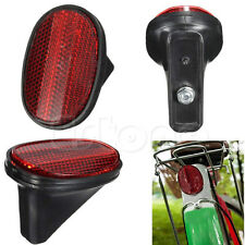 Red Bicycle Classic Tail Rear Safety Mudguard Oval Warnning Reflector Bike Cycle