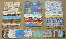"""48 Piece Sizzix Stampin' Up Top Note Die Cut & Tag Set """"All About Boys"""