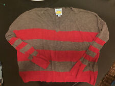 C&C California Womens Striped Knit Cotton Sweater Top Size S $128