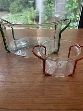 Bodum Vintage Bowls Green And Red Racks Denmark Marked