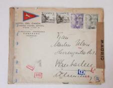 SPAIN censor cover label Hotel Candanchú Huesca Pirineo Aragonés to Wiesbaden