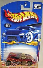 2001 Hot Wheels #83 Extreme Sports Series 3/4 TWIN MILL II Dark Red w/Gold Lace